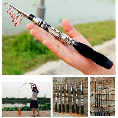 US Travel Sea Fishing Rod Carbon Fiber Telescopic Pocket Tra