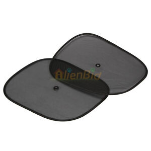 2-x-Car-Side-Rear-Window-Sunshade-Sun-Shade-Cover-Visor-Shield-Screen-Black-Mesh