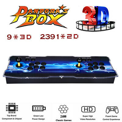 Pandora's Box 9 2400 in 1 Classic Gaming 2 Player Arcade Console VGA Support PC
