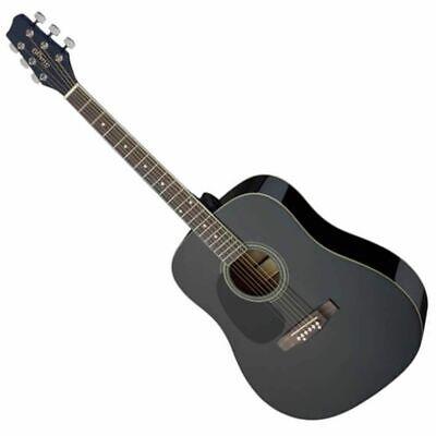 Stagg SA20D 3/4 LH-BK 3/4 Size Dreadnought Acoustic Guitar - Left Hand - Black