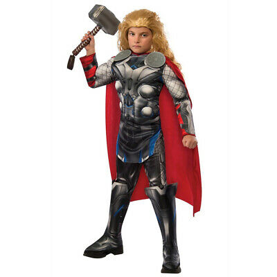 CHILDS DELUXE THOR COSTUME AVENGERS ENDGAME RAGNOROK SUPERHERO GOD FANCY DRESS