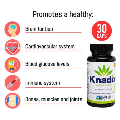 Knadix Hemp Oil. Rich Dietary Supplement. Non-Saturated Fatty Acids. 30 Caps. 2