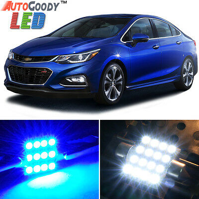 14 x Premium Blue LED Lights Interior Package for Chevy Cruze 2010-2019 + Tool