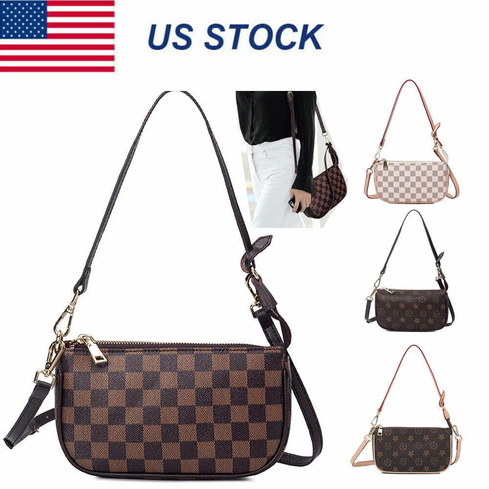 Women Leather Crossbody Purse Cell Phone Monogram Handbag Cl