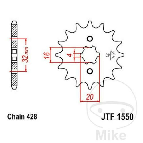 Chain did 428nz 14 pinion gear 54 gbs beta rr 125 ac