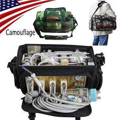 Portable Dental Turbine Unit Air Compressor Suction 3 Way Syringe Bag Equipment