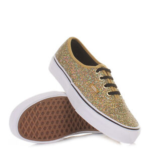 VANS AUTHENTIC GLITTER GOLD MICRO DOTS SHOES MENS 6.5 WOMENS 8 24.5 CM NEW NIB