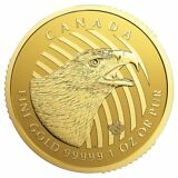2018 Call of the Wild Golden Eagle 1 oz 0.99999 Gold Coin   Sealed In Assay Card