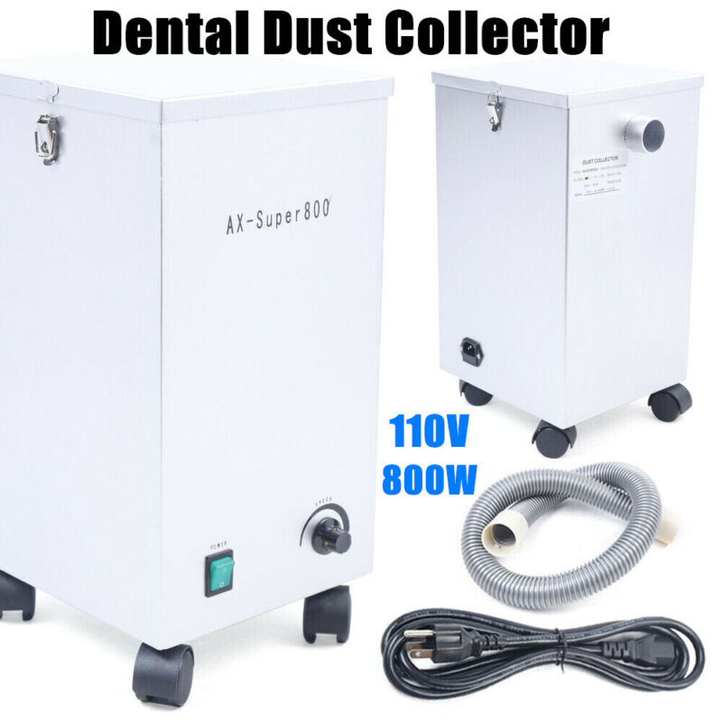 Dental Dust Collector Lab Portable Vacuum Cleaner Dust Removal Machine 110V 800W