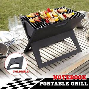 Portable Notebook Grill BBQ Foldable Folding Charcoal Camping Bar Croydon Burwood Area Preview