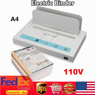 Electric Hot Melt Thermal Binding Machine Book Binder 50mm Document A4 Paper New