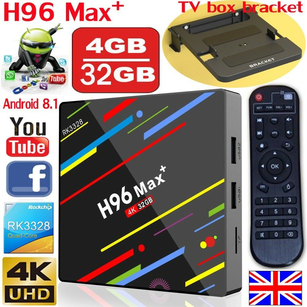 NEW H96 Max plus+ 4GB+32GB Android 8 1 Smart TV Box IPTV OPEN BOX Quad-Core  WiFi 4KHD Media Player | in Bradford, West Yorkshire | Gumtree