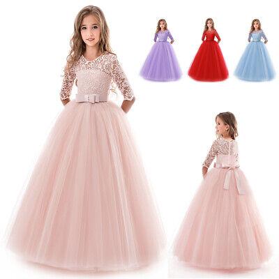 Mädchen Prinzessin Kleid Party Hochzeit Kommunion Abendkleid Ballkleider - Prinzessin Kleider