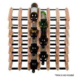 NEW FREE SHIPPING - Timber Wine Rack 42 Bottles Banana Area Preview