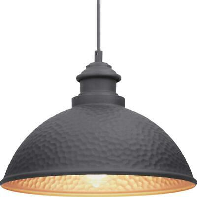 Progress Lighting Englewood Collection 1-Light Black Hanging