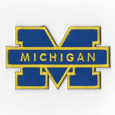- NCAA Michigan Wolverines Iron on Patches Embroidered Badge Patch Applique Emblem