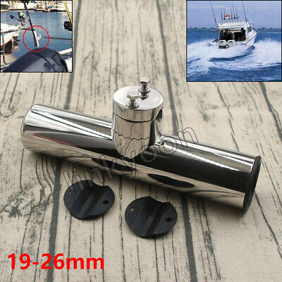UK 316 Stainless Steel Fishing Rod Holder Rail Mount 19mm-26mm Dia. Marine Boat