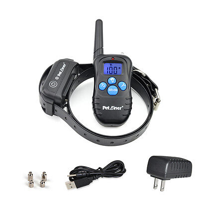 Rechargeable Waterproof LCD Electric Remote Shock Collar Dog Trainer E-Collar