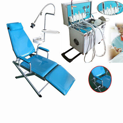 Dental Portable Delivery Unit Ultrasonic Air Compressor Folding Chair Unit 4hole