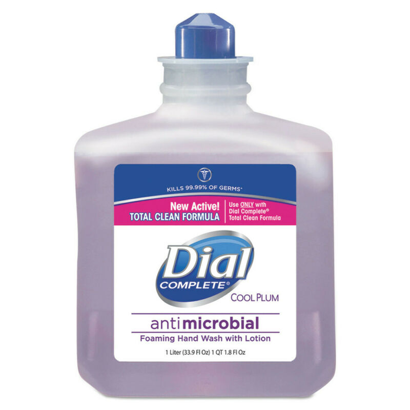 Dial Antimicrobial Foaming Hand Wash Cool Plum Scent 1000ml 4/ctn 81033CT NEW