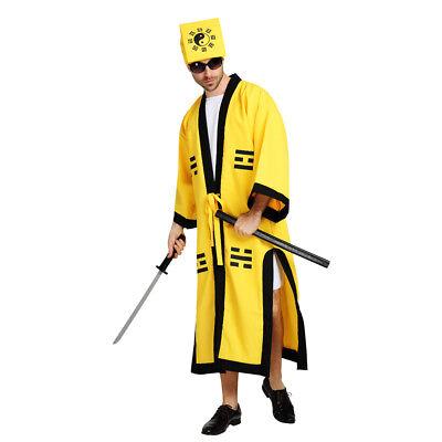 Chinese Style Men's Robe Taoist priest Dress Up Costume Cosplay Halloween - Male Chinese Halloween Costumes
