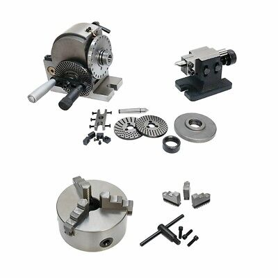 Bs-0 Precision Semi Universal Dividing Head Tailstock Spindle W 5 3 Jaw Chuck