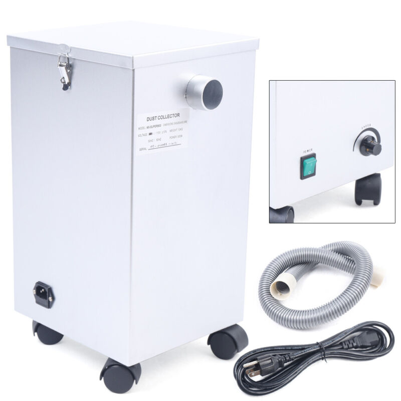 Dental Lab Vacuum Cleaner Mobile Dust Collector Extractor Dust Removal Machine