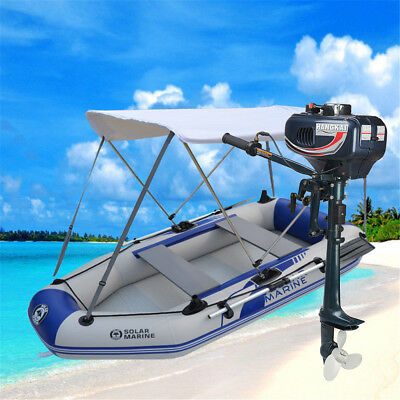 2-4 Person Inflatable Outboard Boat Engine Raft Fishing mount KIT 6.6/7.5/8.8ft - Inflatable Boat Kit