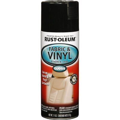 Rust-Oleum Fabric and Vinyl Spray Paint Automotive Gloss Black Car Seat 11 Oz., used for sale  New York