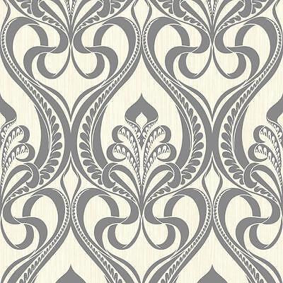 Art Nouveau Carta Da Parati Art Deco.Grandeco Art Nouveau Damask Pattern Wallpaper Art Deco Metallic