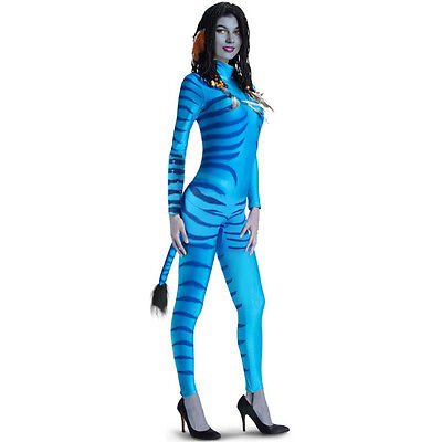 Ladies Women Blue Avatar Neytiri Film Halloween Fancy Dress Costume Outfit S-6XL](Filme Halloween 6)