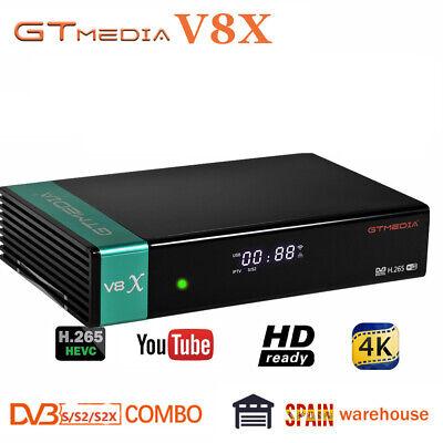 Receptor Gtmedia v8x DVB-S2/S2X Satellite Receiver Support H.265 Built-in WiFi