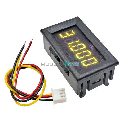0.36 5-digit Dc 0-33.000v Yellow Led Digital Voltmeter Voltage Meter Car Panel
