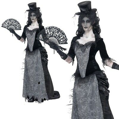 Black Widow Costume Ghostly Town Adult Zombie Ladies Halloween Bride Outfit