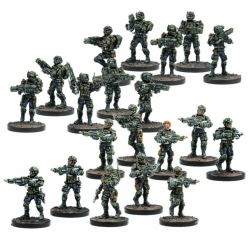 Mantic Warpath MGWPG301 GCPS Troopers Corporate Infantry Boxed Set