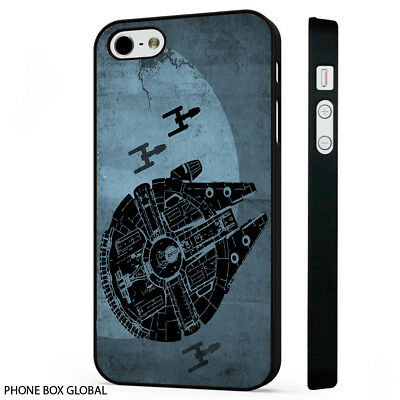 NEW STAR WARS MILLENIUM FALCON PHONE CASE FITS IPHONE 4 5 5S 5C 6 7 8 PLUS SE X