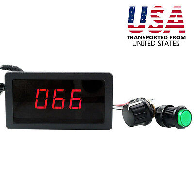 Dc 6v 12v 24v 8a Motor Pwm Speed Controller With Digital Display Speed Switch