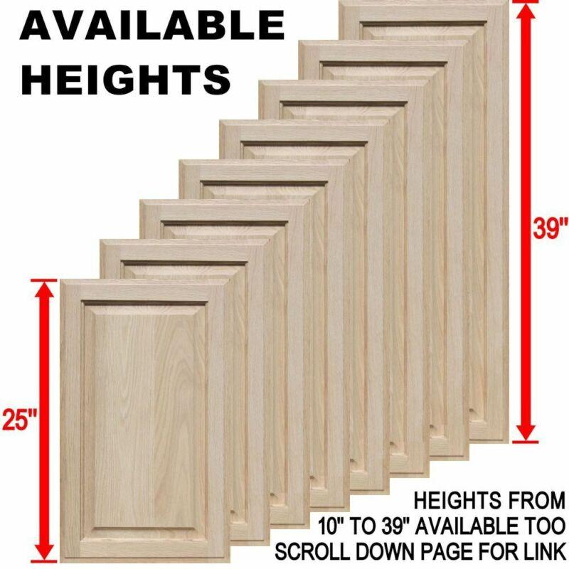 "Unfinished Oak Square Raised Panel Cabinet Doors (25""H & Up)"