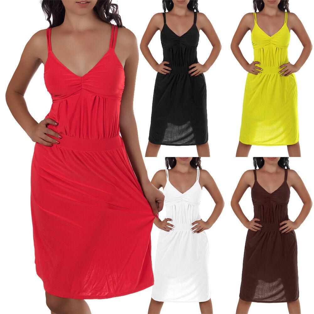 Damen Kleid Kleider Strandkleid Sommerkleid Abendkleid Cocktailkleid N406
