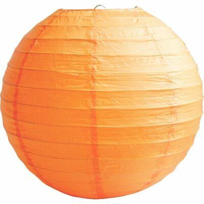 """10pcs ROUND PAPER LANTERNS 8"""" Lamp Shade Garland Hanging Wedding Party Orange"""