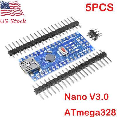 5pcs Nano V3.0 5v 16m Mini Usb Atmega328 Micro-controller Ch340g Driver Arduino
