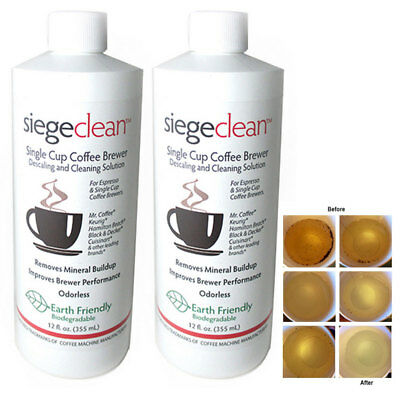 2 Descaling Solution Cleaner Keurig Cuisinart Coffee Maker Cleaning Descaler New