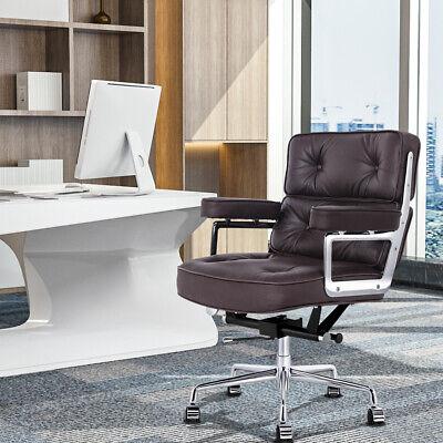 Brown Leather Executive Chair Office Chair Aluminium Base Swivel