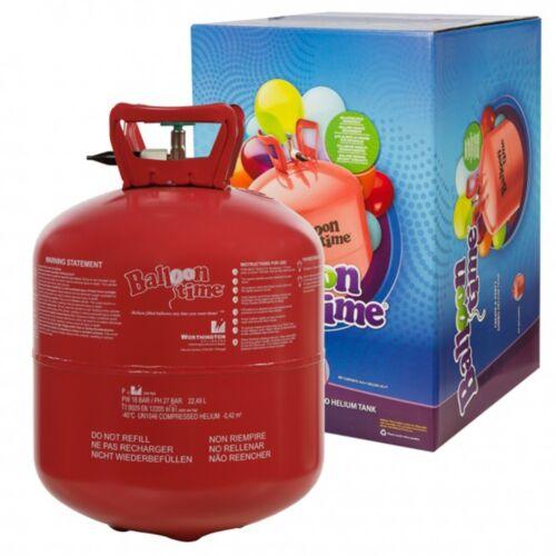 Helium Ballongas f. 45-50 Luftballons Heliumflasche 0,42 m³ Einwegbehälter Gas