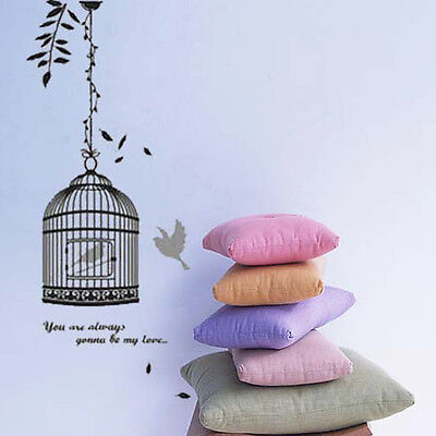 Black Removable Vinyl Bird & Bird's Cage Wall Stikcer Decals Room Home Decor US