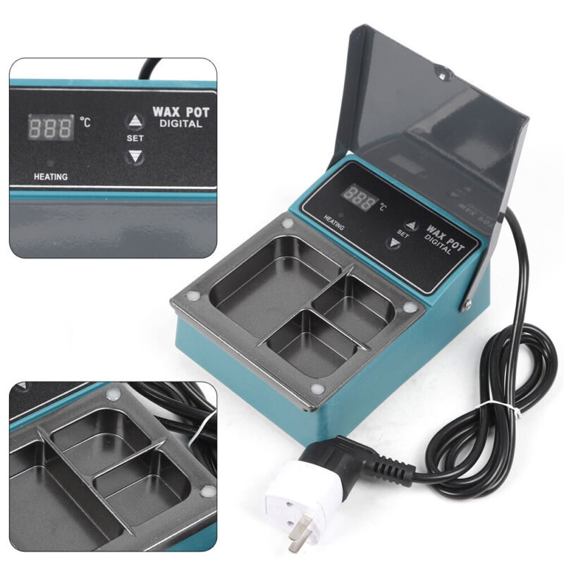 Dental 3 Well Paraffin Heater Pot Dipping Machine Lab Equipment Variable Temp US