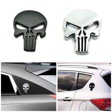 3D Metal Emblem Badge Decal Sticker The Punisher Skull Car Motorcycle Waterproof