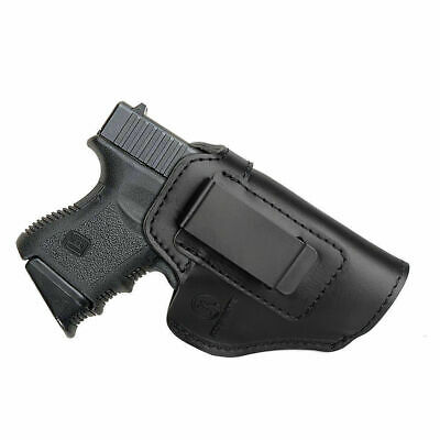 IWB Concealed Carry Black Leather Gun Holster For Hi-Point (Concealed Carry Holster For Hi Point 45)