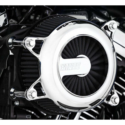 Vance & Hines Chrome VO2 Rogue Air Cleaner Intake for Harley Twin Cam -See Desc.