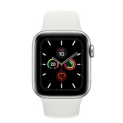 Apple Watch Series 5 GPS 40mm MWV62 Silver Aluminum Caja Blanca Sport Band